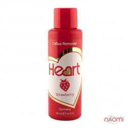 Щелочной пилинг для педикюра Heart Callus&Cuticle Remover Клубника, 100 мл