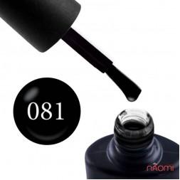 Гель-лак NUB 081 Back to Black черный, 8мл