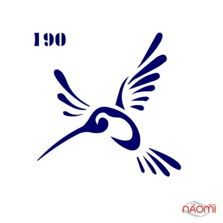 Трафарет для временного тату Креативные и стильные №190 6х6 см, фото 1, 5.00 грн.