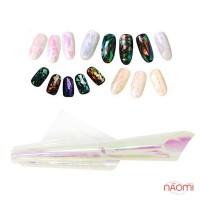 Фольга для ногтей, битое стекло № 04 ширина 5 см, цвет розовый хамелеон