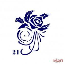 Трафарет для тимчасового тату Креативні і стильні №21 6х6 см