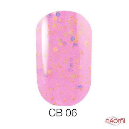 Гель-лак Naomi Candy Bar 006 розовый, с конфетти, 6 мл, фото 1, 55.00 грн.