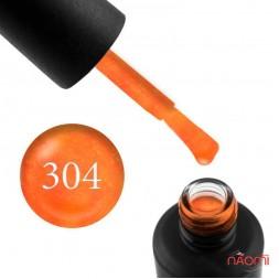Гель-лак My Nail 304 неоновый оранжевый с мелкими блестками, 9 мл