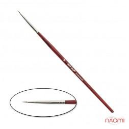 Кисть для рисования MILEO № 2, натуральный ворс, с красной ручкой