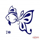 Трафарет для временного тату Креативные и стильные №70 6х6 см, фото 1, 5.00 грн.