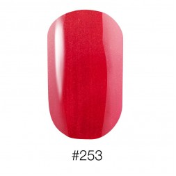 Лак Naomi 253 Aurora перламутровый яркий кораллово - красный, 12 мл