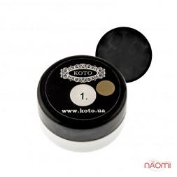 3D Гель-пластилин KOTO 01 черный, 5 г