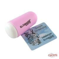 Односторонний силиконовый штамп и скрапер для стемпинга El Corazon № K-sst-16, розовый