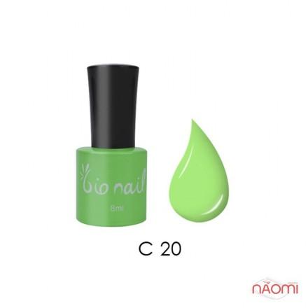Гель лак BioNail C 020 Fluorescense Light Green светло-зеленый, эмалевый, 8 мл, фото 1, 194.00 грн.
