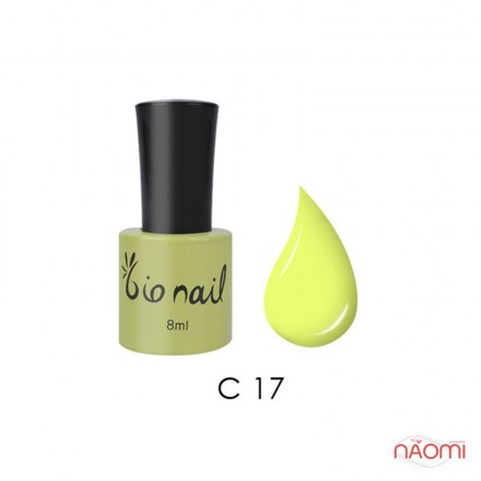 Гель лак BioNail C 017 Fluorescense Yellow желтый, эмалевый, с флуоресцентным эффектом, 8 мл, фото 1, 194.00 грн.