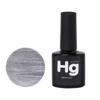Гель-лак Mercury Hg 001 серебро, 8 мл