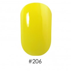 Лак Naomi 206 яркий лимонно-желтый, 12 мл