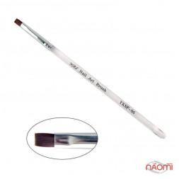 Кисть для геля YRE Nail Art Brush YKSP 06, прямая, искусственный ворс