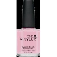 Лак CND Vinylux Weekly Polish 132 Negligee бледный полупрозрачно-розовый с лёгким сиреневым переливо