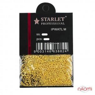 Бульонки для украшения ногтей Starlet Professional, цвет золото, в пакете, 8 г