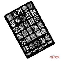 Пластина пластиковая для стемпинга Kodi Professional XY-К 03, 9,5х14,5 см
