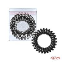 Резинка-браслет для волос Invisibobble POWER True Black, цвет черный, 40х25 мм, 3 шт.
