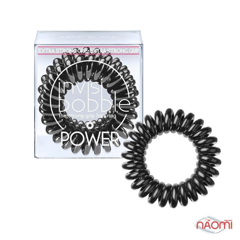 Резинка-браслет для волосся Invisibobble POWER True Black, колір чорний, 40х25 мм, фото 1, 179.00 грн.