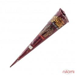 Хна для росписи тела Shringar, в конусной упаковке, красно-коричневая