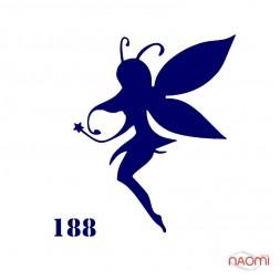 Трафарет для временного тату  №188 6х6 см