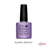 CND Shellac Alluring Amethyst фиолетовый с блестками, 7,3 мл