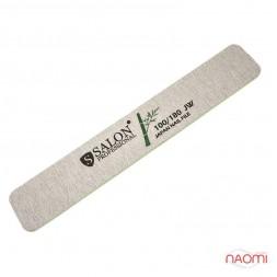 Пилка для ногтей Salon Professional 100/180 Japan Nail File, прямая широкая