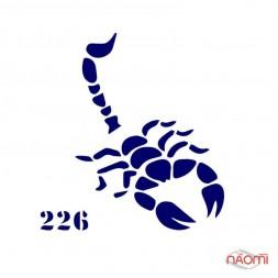 Трафарет для временного тату Креативные и стильные №226 6х6 см