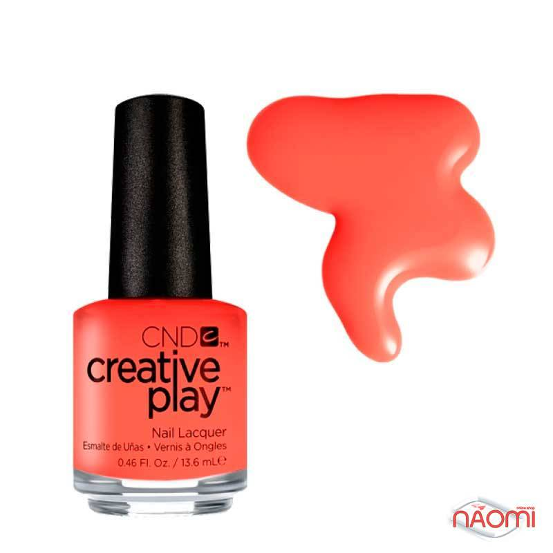 Лак CND Creative Play (423) Peach Of Mind, помаранчевий, 13,6 мл, фото 1, 129.00 грн.