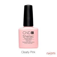 CND Shellac Clearly Pink молочно-прозрачный с еле заметным розовым оттенком, 7,3 мл