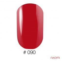 Лак Naomi 090 классический красный, 12 мл