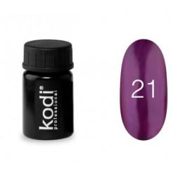 Гель-краска Kodi Professional 21, насыщенный фиолетовый оттенок с перламутровым сиянием, 4 мл