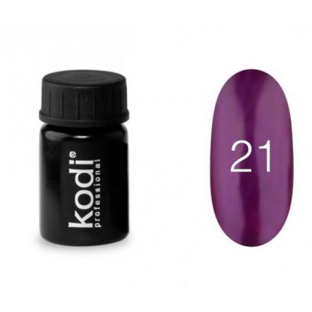 Гель-краска Kodi Professional 21 насыщенный фиолетовый оттенок с перламутровым сиянием, 4 мл, фото 1, 57.00 грн.