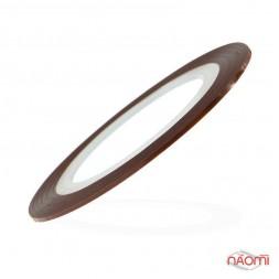 Лента-скотч для ногтей, цвет коричневый, 1 мм