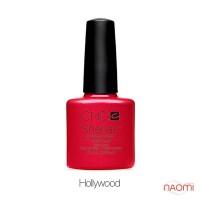 CND Shellac Hollywood ярко-красный с золотистыми мелкими блестками, 7,3 мл