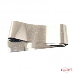 Фольга для ногтей переводная, для литья, silver, звездочки L= 1 м. ширина 4 см.FLL-26