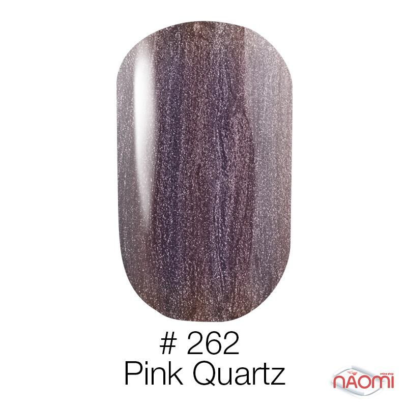 Гель-лак Naomi 262  Pink Quartz молочно-шоколадный с розоватыт отливом, 6 мл, фото 1, 95.00 грн.