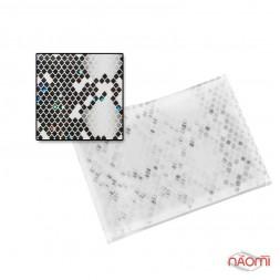 Фольга для ногтей голографическая 007, мозаика,  L= 0,2 м ширина 3 см