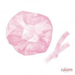 Шапочка Гофре, цвет розовый, 5 шт.