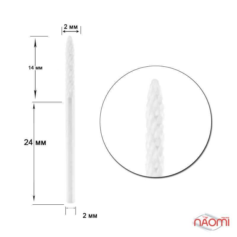 Насадка керамическая узкая, для спиливания гель-лака ФК-1, d=14*2 мм, фото 1, 399.00 грн.