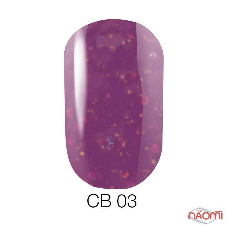 Гель-лак Naomi Candy Bar 003 баклажанный, с конфетти, 6 мл, фото 1, 55.00 грн.