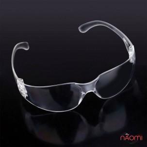 Защитные очки для мастера маникюра и педикюра профессиональные прозрачные, с матовыми дугами