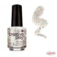Лак CND Creative Play 490 Stellarbration серебристый с блестками, 13,6 мл