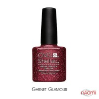CND Shellac Garnet Glamour бордовый с блестками, 7,3 мл