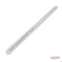 Пилка для ногтей Kodi Professional 180/240 Grey, капелька