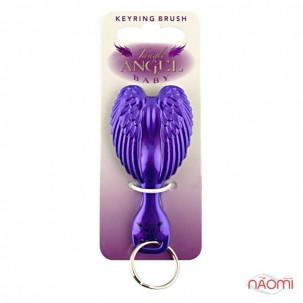 Расческа-брелок Tangle Angel Baby Brush POP! Purple, цвет фиолетово-черный