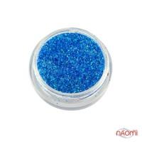 Блестки для ногтей в баночке, цвет голубой