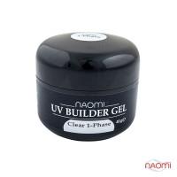Гель однофазный Naomi UV Builder Clear 1-Phase прозрачный, 48 г