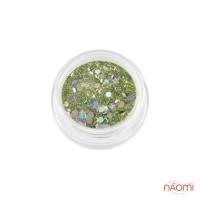 Акриловая пудра My Nail № 059, зеленый микс, 2 г