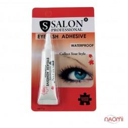 Клей для накладных ресниц Salon Professional 7 г водостойкий, черный