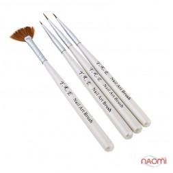 Набір пензлів для малювання Yre Nail Art Brush VK 02, 4 шт.